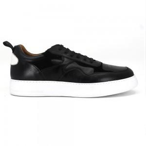 Malcom Siyah Deri Erkek Casual Ayakkabı
