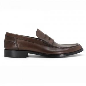 Clayton Kahve Deri Erkek Loafer Ayakkabı