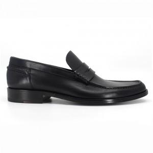 Clayton Siyah Deri Erkek Loafer Ayakkabı