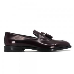 Benito Bordo Açma Deri Erkek Loafer Ayakkabı