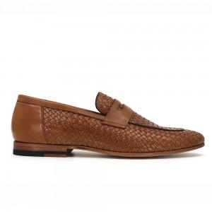 Bruno Taba Örgü Deri Erkek Klasik Ayakkabı