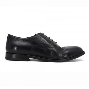 Andrew Siyah Deri Erkek Oxford Ayakkabı
