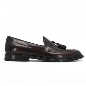 Billy Kahve Deri Erkek Loafer Ayakkabı