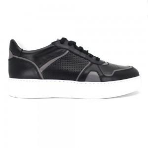 Alexis Siyah Deri Erkek Spor & Sneakers